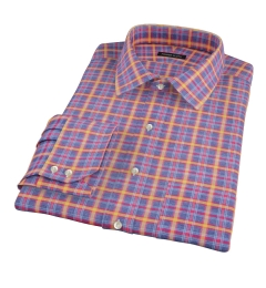 Yellow Blue Lewis Plaid Flannel Custom Made Shirt