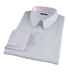 Mercer Blue Medium Grid Men's Dress Shirt