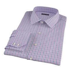 Purple and Navy Gingham Custom Made Shirt