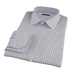 Canclini Grey 120s Multi Gingham Custom Made Shirt