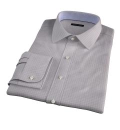 Canclini 140s Grey Box Check Custom Made Shirt