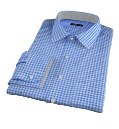 Grandi and Rubinelli Featherweight Blue Plaid Tailor Made Shirt