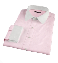 Greenwich Pink Twill Fitted Dress Shirt