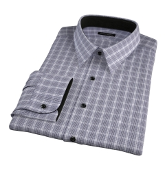 Wrinkle Resistant Black Prince of Wales Check Fitted Shirt