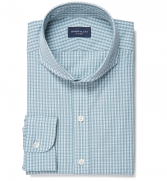 Trento 100s Sage Check Men's Dress Shirt