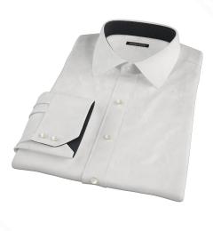 Thomas Mason Goldline White Fine Twill Custom Made Shirt