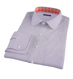 Thomas Mason 120s Lavender Mini Grid Men's Dress Shirt