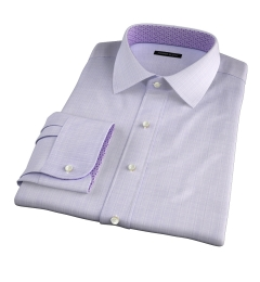 Lazio 120s Lavender Multi Grid Custom Dress Shirt