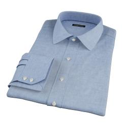 Albini Light Indigo Oxford Chambray Men's Dress Shirt
