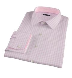 Medium Pink Gingham Dress Shirt