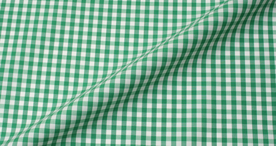 Canclini light green gingham shirts by proper cloth for Red and green checked shirt