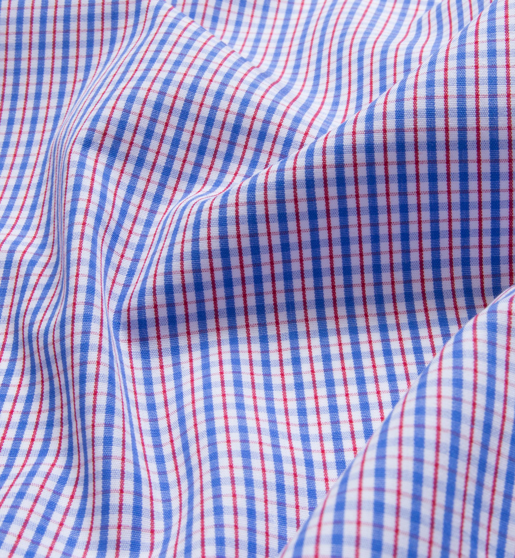 Red And Blue Regis Check Shirts By Proper Cloth