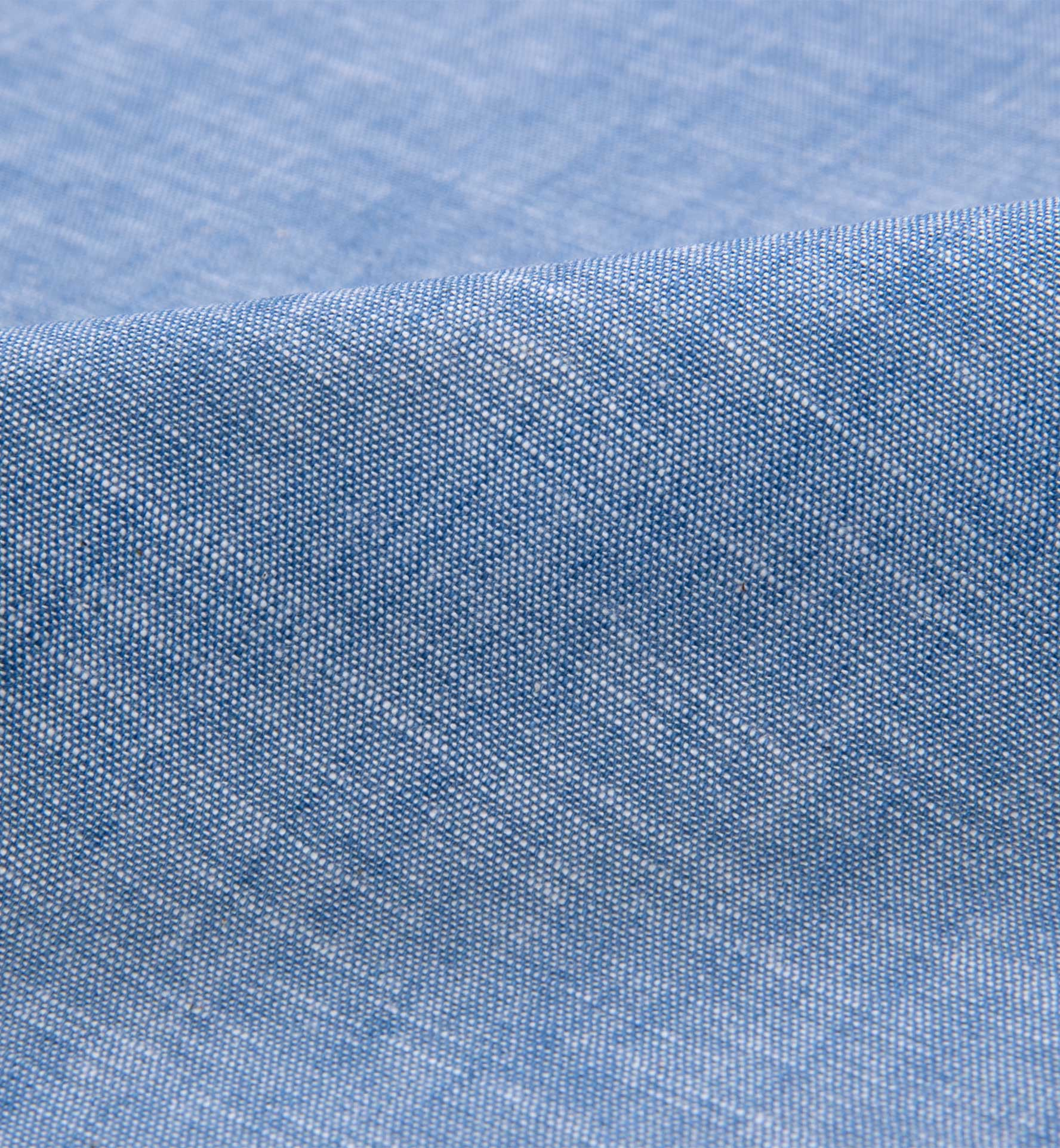 Japanese light indigo slub chambray shirts by proper cloth for Chambray fabric