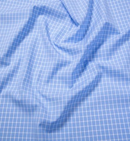 Thames Light Blue Multi Grid Shirts By Proper Cloth