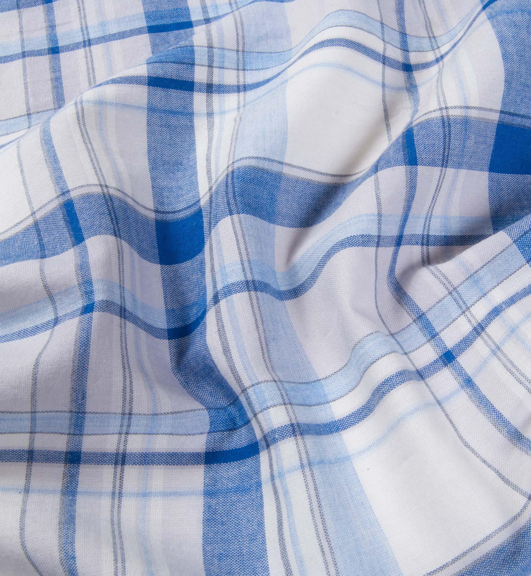 Blue And White Organic Madras Shirts By Proper Cloth