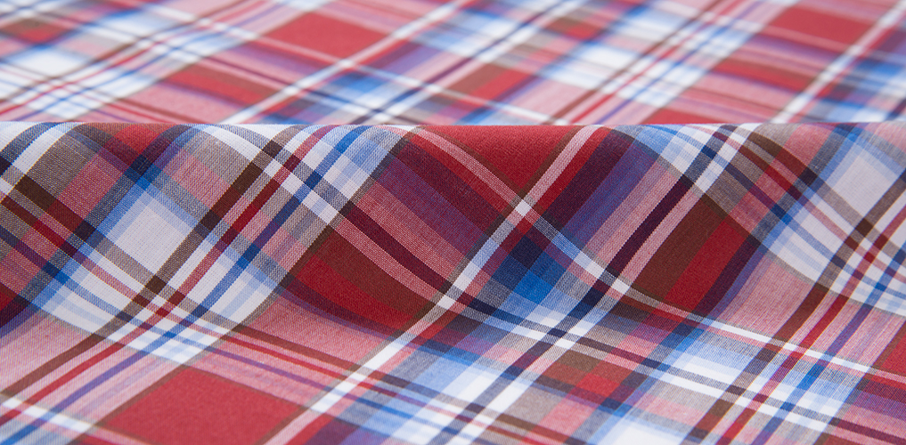 Canclini red white blue plaid shirts by proper cloth for Red white and blue plaid shirt