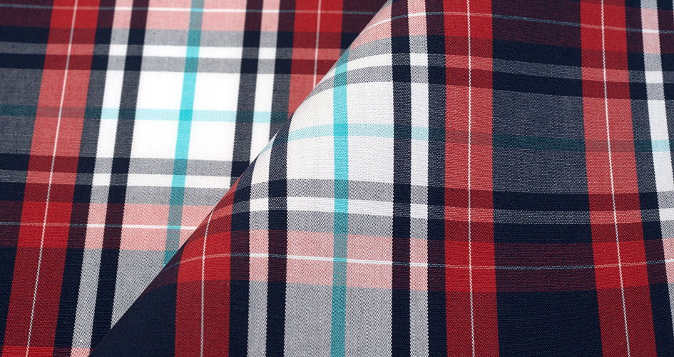 Large red and blue plaid shirts by proper cloth - Plaid bleu turquoise ...