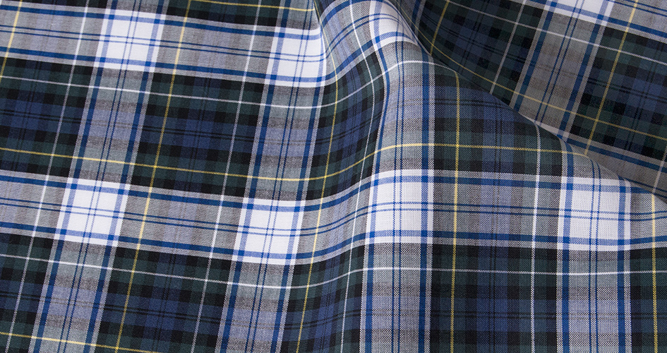 Blue green tartan shirts by proper cloth for Blue and green tartan shirt