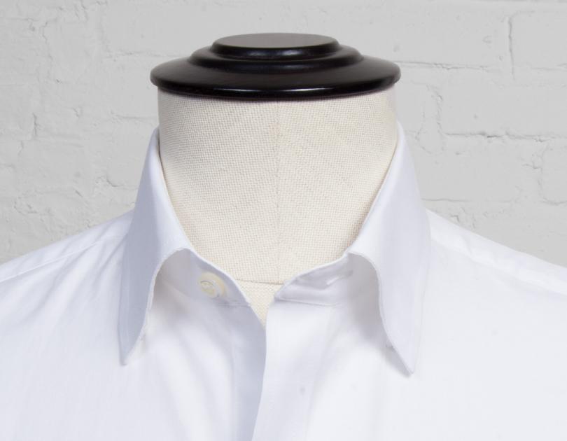 hidden button down collar proper cloth