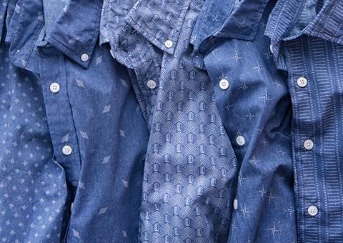 Japanese Katazome Print Dress Shirts