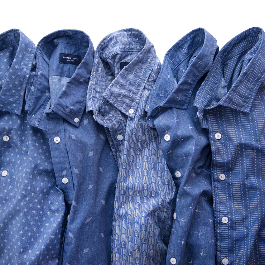 Japanese Block Print Shirts
