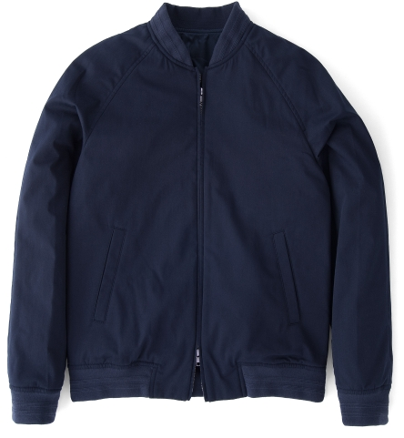 Mercer Navy Cotton Bomber Jacket by Proper Cloth