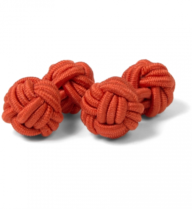 Orange Silk Knots by Proper Cloth