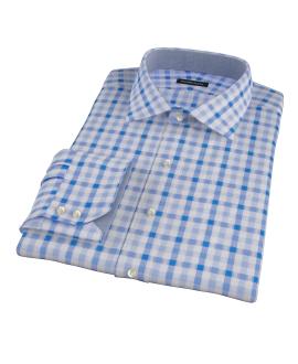 Light Blue and Blue Gingham Custom Dress Shirt