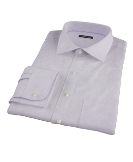 Canclini Lavender Herringbone Fitted Dress Shirt