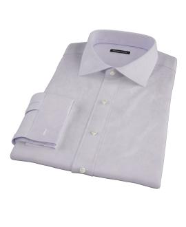 Canclini Lavender Herringbone Men's Dress Shirt