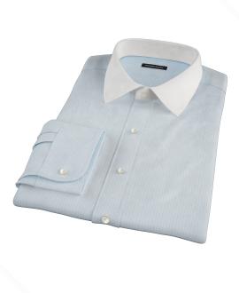 Light Blue End-on-End Stripe Dress Shirt