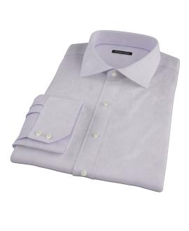 Canclini Lavender Herringbone Custom Made Shirt