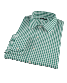Veridian Green Gingham Custom Dress Shirt