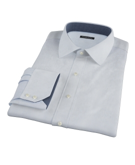 Canclini Light Blue Dobby Stripe Dress Shirt