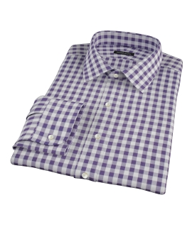 Eggplant Large Gingham Tailor Made Shirt