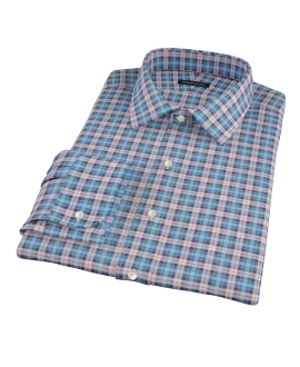 Vincent Blue Red and White Plaid Custom Dress Shirt