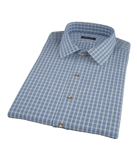 Canvas Blue Oxford Plaid Short Sleeve Shirt