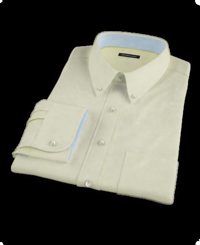 Yellow End-on-End Stripe Custom Dress Shirt