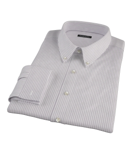 Albini Pink Bordered Stripe Fitted Shirt
