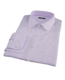 Canclini Purple Check Fitted Shirt