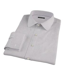 Albini Pink Bordered Stripe Tailor Made Shirt