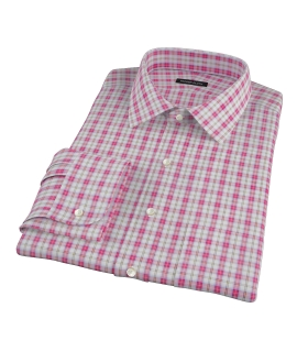 Red and Teal Plaid Men's Dress Shirt