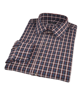 Mandarin Ocean Plaid Tailor Made Shirt
