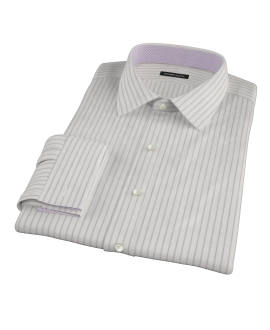 Japanese White and Lavender Tailor Made Shirt