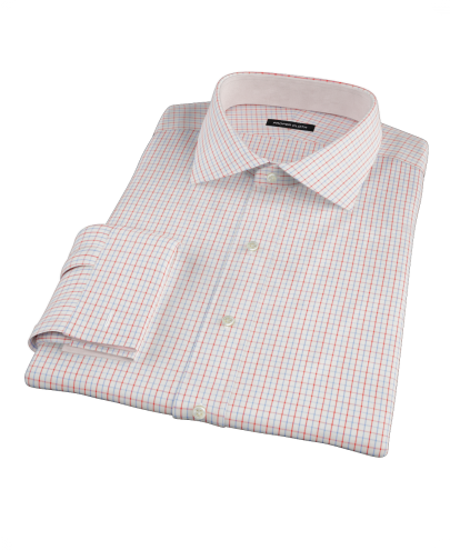 Red and Blue Tattersall Men's Dress Shirt
