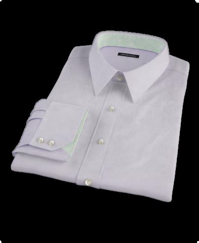 Thomas Mason Lavender Fine Twill Custom Dress Shirt