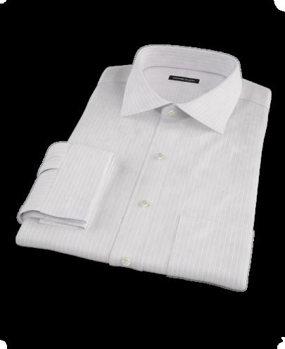 Lavender Dobby Stripe Men's Dress Shirt
