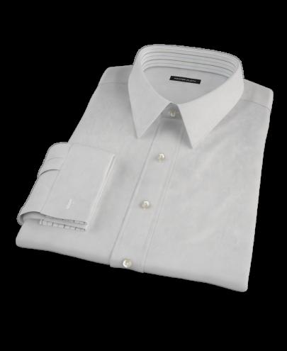 Light Gray Broadcloth Custom Dress Shirt