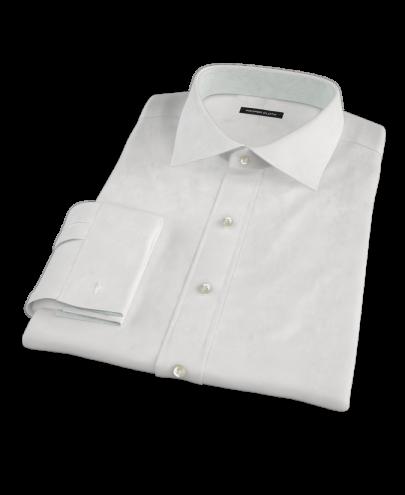 Albini White Broadcloth Custom Dress Shirt
