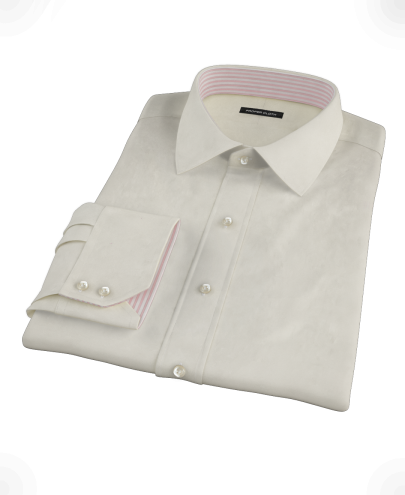 Ecru Pinpoint Custom Dress Shirt